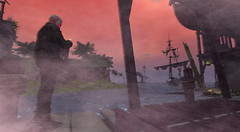 Pearl Harbour timeline error (mokkris pera) Tags: secondlife pearl harbour sunk ship timeline zeitreise bay ruins pirates destroyed