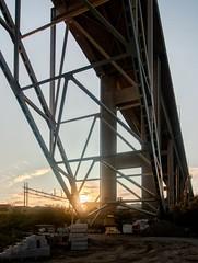 IMG_4711 - Bridge sunset (ragnarfredrik) Tags: bridge fredrikstad construction sunset sun light