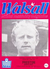 Walsall vs Preston North End - 1982 - Cover Page (The Sky Strikers) Tags: walsall preston north end fellows park football league milk cup road to wembley official matchday magazine 35p