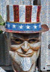 uncle sam mosaic (pbo31) Tags: hayward california unclesam america usa mosaic nikon d810 color september 2019 eastbay alamedacounty boury pbo31 head plastic giant big bayarea