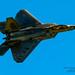 NICE TOPSIDE F-22 PASS