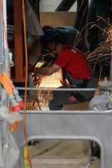 Schiff MS Spiez ( Baujahr 1901 - Bauwerft Gebrüder Sulzer - 1952 Umbau Diesel - Außerdienststellung  2007 - Ehemaliger Schraubendampfer Kursschiff Dampfer Fahrgastschiff Schiff ship bateau nave ) in der Werft Thunersee bei Thun im Kanton Bern der Schweiz (chrchr_75) Tags: albumzzz201909september september 2019 christoph hurni chrchr75 chrigu chriguhurni chriguhurnibluemailch schweiz suisse switzerland svizzera suissa swiss chrchr kantonbern kanton bern thunersee berner oberland albumthunerseemsspiez motorschiff schiff ship bateau nave schraubendampfer dampfschiff