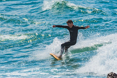 Catching a Wave (Merrillie) Tags: action landscape nature australia movement newsouthwales sea sport nsw blue beach ocean waves avocabeach centralcoast coastal daytime outdoors waterscape water avoca coast seascape