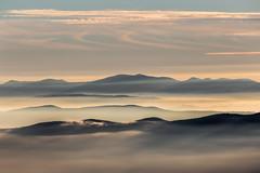 Shapes (Massimo_Discepoli) Tags: mountains fog mist surreal landscape moody sunset epic light