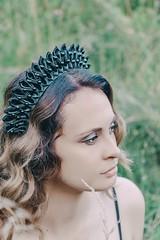 Gothic headpiece (annaaayukhno) Tags: gothic headdress fantasy goddess witch crown bride wiccan black wedding cosplay vampire tiara halloween dark fairy headpiece spikes
