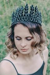 Evil Queen (annaaayukhno) Tags: gothic headdress fantasy goddess witch crown bride wiccan black wedding cosplay vampire tiara halloween dark fairy headpiece spikes
