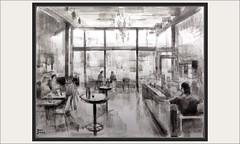 DIBUJO-CAFETERIA-VENTANALES-INTERIOR-VIDA-PERSONAJES-DIBUJOS-INTERIORES-CAFETERIAS-ARTISTA-PINTOR-ERNEST DESCALS- (Ernest Descals) Tags: dibujo dibujos dibujar dibujando dibuix cafeterias coffeshop cafeteria cafeteries interior exterior interiores personajes ventanales mesas diseño composicion personas vida life luz iluminacion espacio gente people drawing drawings pictures paint todraw sketch arte art artwork escenas cotidianas pintura paintings painting painter painters pintor pintores tintachina tintas valores protagonistas ernestdescals artistas dibujantes dibuixar dibujants tintes ink artistes plasticos