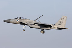 583_McDonnellDouglasF-15CBaz_IsraelIDF_EGXW_Img02 (Tony Osborne - Rotorfocus) Tags: mcdonnelldouglas f15 f15c eagle baz israel israeli air force defence forces idf iaf raf waddington cobra warrior 2019