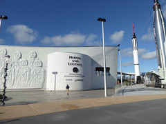 Florida Day 18 - 013 Kennedy Space Center Heroes and Legends (TravelShorts) Tags: ksc kennedyspacecenter capecanaveral trex restaurant dinosurs disney dining table service food astronaut encounter wendy lawrence space shuttle atlantis apollo saturn rocket hall fame artifacts flown stars suits moon walk moonwalk moonrock mission mars journey lecture heroes legends boosters the cape memorial 11 bus tour bustour spacex launchpad csm lunar lander command module neil armstrong vehicle assembly building vab mercury gemini control alan shepard buzz aldrin