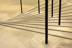 Stairway in Tate Modern (on Explore) (Jan van der Wolf) Tags: map196220v staircase stairway stairs trap steps lines lijnen tate tatemodern black zwart museum treden
