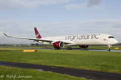 G-VLUX Airbus A350-1000 Virgin Atlantic Glasgow airport EGPF 19.08-19 (rjonsen) Tags: plane airplane aircraft aviation airliner taxying airside