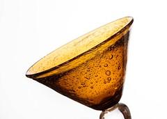 The Golden Chalice (Karen_Chappell) Tags: gold orange glass white bubbles bubbly shape curve product stilllife goblet glassware bright highkey golden color colour