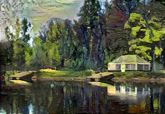 House by the water (V_Dagaev) Tags: house water forest trees river lake building art digital dynamicautopainter summer painterly painting painter paintingsfromphotos paint visualdelights