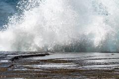 Rocky Splashy Seascape (Merrillie) Tags: sunrise nature australia terrigal splash nsw newsouthwales rocks seascape daytime sea coast ocean rocky landscape theskillion coastal waves outdoors waterscape headland centralcoast water sky
