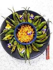 Grilled Corn & Shishito Peppers (pratimabk) Tags: food foodie vegan gluten free foodpro vegetarian snacks nomnom