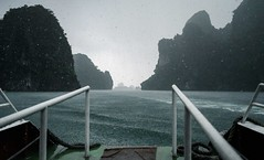 Into the Storm (stephenccwu) Tags: adventure monsoon rainstorm nikonz6 boat storm vietnam halongbay
