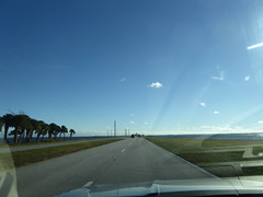 Florida Day 18 - 005 Driving to Kennedy Space Center (TravelShorts) Tags: ksc kennedyspacecenter capecanaveral trex restaurant dinosurs disney dining table service food astronaut encounter wendy lawrence space shuttle atlantis apollo saturn rocket hall fame artifacts flown stars suits moon walk moonwalk moonrock mission mars journey lecture heroes legends boosters the cape memorial 11 bus tour bustour spacex launchpad csm lunar lander command module neil armstrong vehicle assembly building vab mercury gemini control alan shepard buzz aldrin