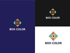 Box-Color Logo (Sharmin Munia) Tags: abstract branding data logo identity colorful fun develop ent icon symbol geometric modern tech technology lettermark