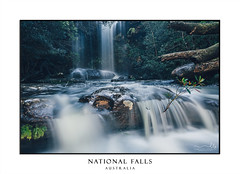 Full flowing Waterfall and cascades (sugarbellaleah) Tags: waterfall flowing cascades rocks rapids flow water nature nationalpark australia trees royalnationalpark awe amazing rain lush spectacular flora cool landscape wilderness bushland