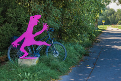 2109 Bike 180: Day 138, September 19 (suzanne~) Tags: gauting art sculpture ulrichschweiger characterofevolution bike bavaria germany 2019bike180