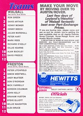 Walsall vs Preston North End - 1982 - Back Cover Page (The Sky Strikers) Tags: walsall preston north end fellows park football league milk cup road to wembley official matchday magazine 35p