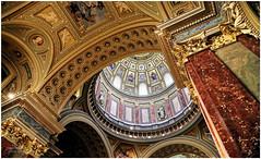 St Stephen's Basilica, Pest (ceiling detail) (PAUL YORKE-DUNNE) Tags: ststephensbasilica pest ceilingdetail dome pillars gold canonrp canon24105mmlens fullframe mirrorless