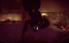 Turn off the lights and light a candle (Chioma Namiboo SL) Tags: blackbeautyblack magic melanin slblack lifesecond life photographysl mesh moon melanated afro mother goddess puftafro puft bath bathe invite itsabouttogodown friendly
