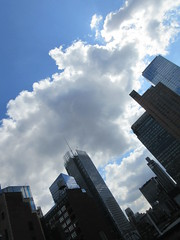 2019 Wafting Clouds over Midtown Hells Kitchen NYC 1678 (Brechtbug) Tags: new york moon kitchen clouds with clinton over midtown hells the 2019 street city nyc pink sunset sky cloud sunlight building art fall skyline architecture evening cityscape near salmon sunsets august september cover cumulus times avenue scape cloudcover 8th 42nd orangish 09182019