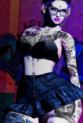 The Hunger (marduklust resident) Tags: sl avatar second life dae fangs marduklust codex swallow no cabide nocabide wcf flair for events jeans suicidal unborn su