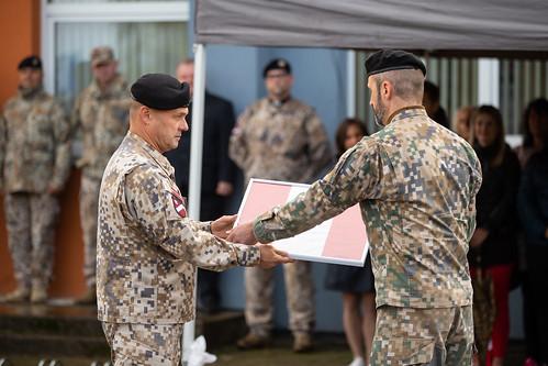 Zemessardzes 45.kaujas nodrošinājuma bataljona komandiera maiņas ceremonija