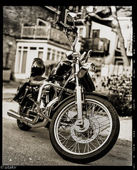 Bike (Uta_kv) Tags: e6 provia100f homedeveloped texasleica 6x7format fujicagm670 epsonv550 film analog filmcamera 120mmfilm mediumformatrangefinder