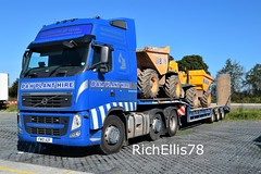 Add Watermark20190919122514 (richellis1978) Tags: truck lorry haulage transport logistics freight cannock volvo fh fh3 bw plant hire fw10azf