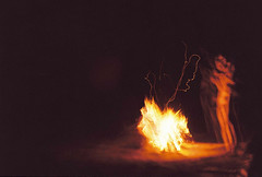 Blurred youth (Karsten Fatur) Tags: portrait model malemodel gay lgbt lgbtq queer queerart gayman gayart film 35mm kodak kodakgold minolta analogue vintage canada fredericton newbrunswick summer filmgrain maked nude nudemodel nakedmodel camping fire campfire lighting firelight longexposure blur slowshutterspeed sparks