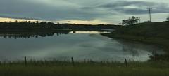 Autumn Prairie Moments (Mr. Happy Face - Peace :)) Tags: settler alberta canada ponds sky sun clouds autumn fall cloudy art2019 htt telephone pole fence