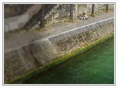 TimeFlow.jpg (Klaus Ressmann) Tags: klaus ressmann omd em1 fparis france seine summer blurred cityscape flicvarious nostalgia quai river staires klausressmann omdem1