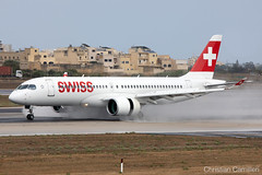 Swiss Bombardier CSeries CS300 'HB-JCM' LMML - 06.09.2019 (Chris_Camille) Tags: spottinglog registration planespotting spotting maltairport airplane aircraft plane sky fly takeoff airport lmml mla aviationgeek avgeek aviation canon5d 5dmk4 70200mm28 canonef canon livery myphoto myphotography