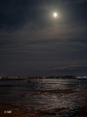 Sun in the Night (MF[FR]) Tags: nuit moon lune night samsung nx1 long exposure pose longue bâteau boat marée basse