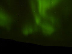 Aurora and Garddenvari (dration) Tags: sweden lappland nighscape auroraborealis sky night