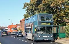 AU53 HKL, First Volvo 32493, Landseer Road, Ipswich, 19th. September 2019. (Crewcastrian) Tags: ipswich buses first easterncounties transport landseerroad volvo transbus au53hkl 32493