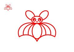 DISCO BAT Red (VonMurr) Tags: discobat dinobambino mirellavonchrupek design vector logo mug kubas mamsam maurycygomulicki