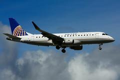 N89349 (United Express - Mesa Airlines) (Steelhead 2010) Tags: yyz nreg unitedairlines united express mesaairlines embraer emb175 n89349