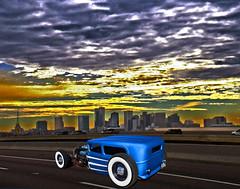 Ratrod (oybay©) Tags: ratrod rat rod hotrod phoenix arizona freeway interstate10 interstate highway road skyline city clouds sky color colors colorful