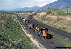 On the Road to Helper (jamesbelmont) Tags: railway locomotive railwaylocomotive railroad train dirtydirt sutro spanishfork mapleton sd40t2 emdsd50 drgw riogrande rohpc