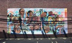 Brownsville (neilsonabeel) Tags: nikonfm2 nikon nikkor streetart mural brooklyn brownsville newyorkcity urban city street brick shadow