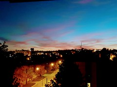 P i n k - b l u e (Ladyhelen_) Tags: night music tango gracejones libertango city colors pink blue dark twilight dusk light nightcity colorcity citylight nightlights colorlights view myview frommywindow frommyterrace