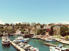 (havvagul) Tags: harbour porttown port marina vscocam vsco huaweicamera huawei boat vessel sun sea seaview view picture pierview pier photographs photograph castle antalya turkey