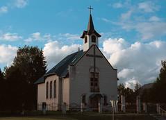 Roman Catholic church of Limbaži (Andž) Tags: filmphotography kodak ektar100 ektar minolta x700 film filmisnotdead ishootfilm analog analogphotography mdrokkor rokkor church catholic architecture