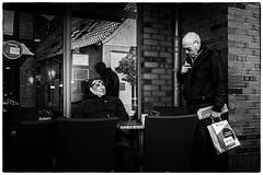 It's me (Loek van Straaten) Tags: neustadt holstein germany street streetphotography candid city people man men cafe blackandwhite black white bw monochrome loek vanstraaten