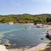 Panoramic view of Zogeria Beach on Spetses island, Greece