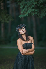 dark fairy (annaaayukhno) Tags: witch crown black magic dark fairy goddess headdress gothic swan fascinator headpiece nature festival